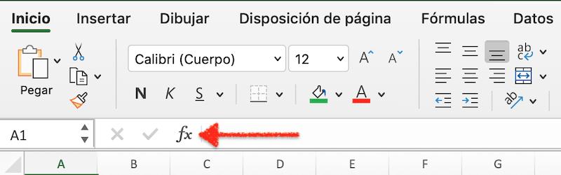 Cómo insertar una función en Excel