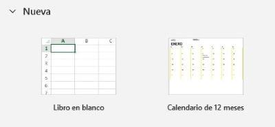 Plantilla Calendario 12 meses