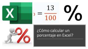 cómo calcular un porcentaje en excel